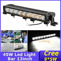 New 45W Cree LED work offroad light Truck 4X4 beam combo DC 9~32V led light bar 13inch 9x5W ATV lamp free shipping wholesale