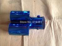Universal Tip 6.3cm Inlet Blue Stainless Steel Exhaust Resonator Muffler B