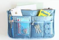 Multifunction Lady Cosmetic Bag Handbag Inside Outside Dual Insert Storage Nylon Organizer Clutch Purse Large Insert Storage