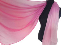 10pcs/lot Color Shade Ombre Print Scarf Shawl Head Wrap Oversize Women's Accessories, Free Shipping