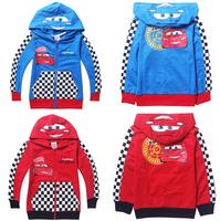 2014 New Spring Autumn cartoon Car Zipper cardigan outerwear kids Coat children's leisure sports Jackets clothing 4058