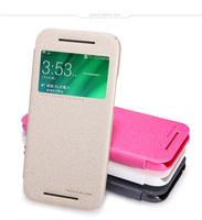 High Recommend Original Nillkin Window Filp Sparkle Series PU Leather Case Cover Protective Case for HTC One Mini 2 M8 Mini