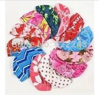1111 free shipping Swimming cap Design and color is pure colour cloth caps Ms color random adult men's children