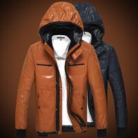 2014 winter new high velvet jacket PU leather men's leather men