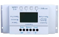 LCD 40A 12V/24V MPPT Streetlight Three-time Solar Charge Controller with 5V USB