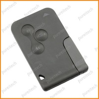 free shipping renault megane key cards case no logo 3 buttons car remote key covers whole sale