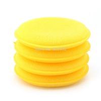 Anti-Scratch Car Circle Cleaning Wax/Polish Yellow Foam Sponge Pad 12PCS/1set