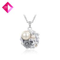 D&Z Platinum Austrian water pearl flower necklace Fashion necklace series