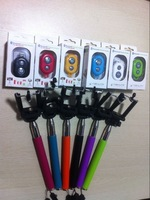 HOT Selfie Monopod Extendable Handheld + Clip Holder + Bluetooth Wireless Shutter Remote Control For Android Smartphone IOS