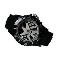Marvel S.H.I.E.L.D. Super Hero Logo Metal Black Silicone Watch Wrist For Boy Man