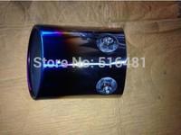 Tip 7.6cm Inlet Blue Stainless Steel Exhaust Resonator Muffler For 2014 RAV4