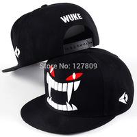 Retail 2014 New Fashion Women & Men Korean Personality Tooth Embroidery Baseball Caps,Boys Hip-Hop Hats,Free Shipping  cm120