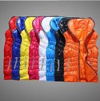 Women's autumn winter cotton  vest 2014 new  hooded cotton vest fashion glossy female models down vest waistcoat vest with hat