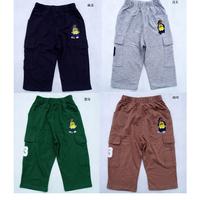 2014 Children Casual Haren Trousers Kids Boys Girls Fashion Bear Knee-Length Pants Fit 7-13Yrs 4Pcs/Lot Free Shipping