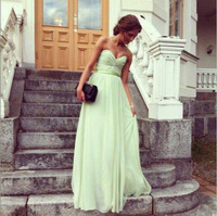 2014 A-line Sweetheart Fashion Off the Shoulder Free Shipping Beading Crystals Elegant Sequins Floor Length Prom Dresses
