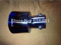 Tip 6cm Inlet Blue Stainless Steel Exhaust Resonator Muffler For Yaris