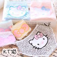 Free shipping bling ~ bling ~ hello kitty super cute girl KT cat underwear cotton underwear Low Waist Briefs
