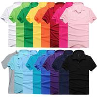 Men Golf Classic Lapel POLO Shirt Short Sleeve Casual Sports Shirt Tops M-3XL For Freeshipping