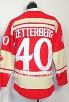 #40 Henrik Zetterberg Winter Classic Kids/Youth Jersey,Ice Hockey Jersey,Best quality,Authentic Jersey,Size S--XL,Accept Mix,che