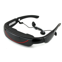 "Free shipping Portable Eyewear 72"" 16:9 Widescreen Multimedia Player Portable Video Glasses Virtual Theatre 4GB"