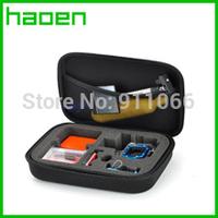 For Gopro Hero3 Hero2 Hero3+ Gopro Bags EVA 3.0 Middle Case  Black 22cm x 17cm x 7cm