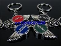 50pcs Mix Car Key Chain 4 color Mini 3D 500pcs  Men's Car Keychains Keyrings Key Ring Chain Rings Keychain