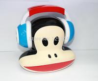 Brand New Outdoor Fashion Carton Mini Speaker USB FM Radio Music Player TF Card Portable Mini Speaker For PC MP3 Free shipping