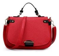 2014 new fashion vintage women handbag brand designer PU leather belt panelled shoulder bag punk matte for girls messenger bag