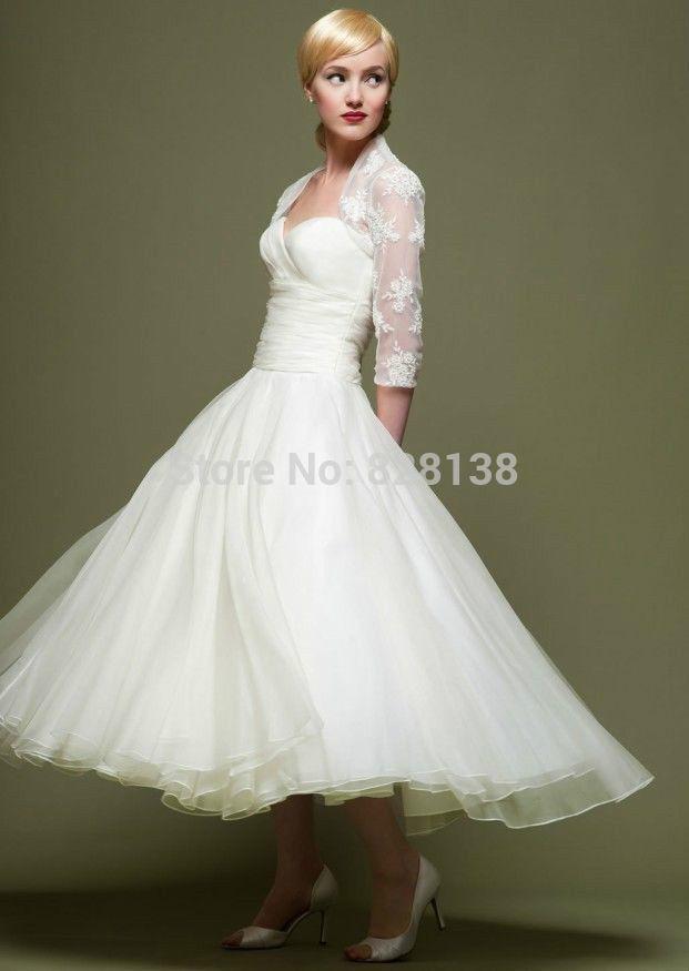 Mid Calf Wedding Dresses