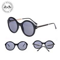 New High Quality 5 Colors Retro vintage Round Sunglasses  Brand Designer 2014 Oculos De Sol Feminino
