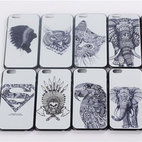 For iPhone 6 Classic Superman Style Elephant Animal Pattern Plastic Back Case 4.7 inch High Quality Cover Free Shipping(PG013)