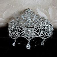Wedding Bridal Crown Tiaras Rhinestone Crown Queen Bridal  Crystal Hair Accessories wedding jewelry Bridal Tiara