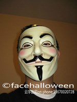 V for Vendetta Mask -Set 100 (One Size Fits All) for (Light Surface) Guy Fawkes/Anonymous/ Halloween/Carnival Free Shipping