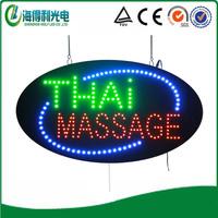 THAI MASSAGE sign /Oval 15*27 inch  LED business shop sign/LED OPEN sign