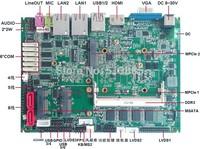 Dual core Intel Cpu 3.5'' industrial motherboard Intel DDR3 Onboard 2Db+SSD