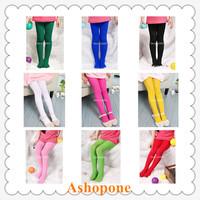 10xFashion New kids Child Girls Toddler Pantyhose Stockings Skinny Cute Velvet Tights Leggings 11 Colors 45cm 50cm 60cm(fx295)