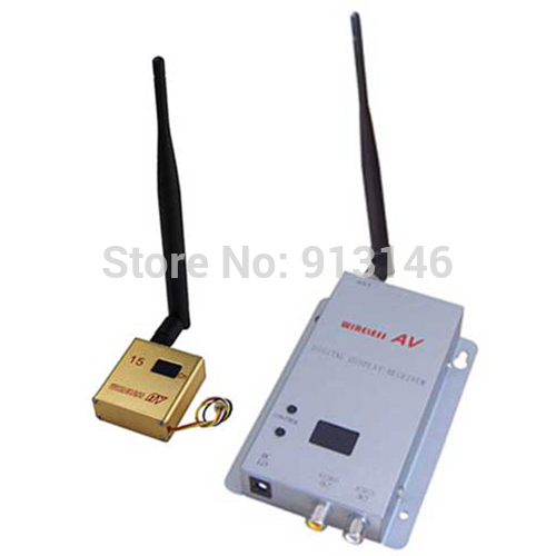 Mini wireless audio video transmitter 1.2GHz 15channels 300mW Free Shipping(China (Mainland))