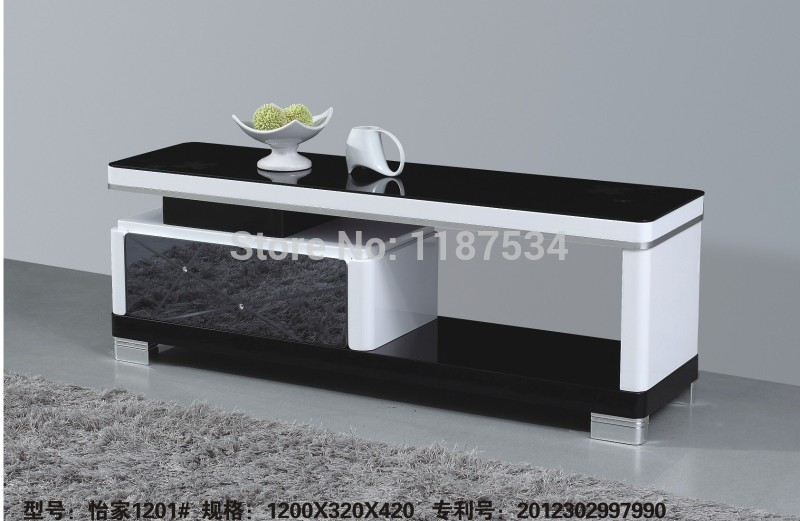 Shop popular modern glass tv tables from china aliexpress for Table tv moderne