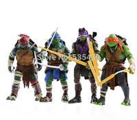 2014 NEW HOT 4 pieces/set 12cm Anime Cartoon TMNT Teenage Mutant Ninja Turtles PVC Action Figure Toys Dolls