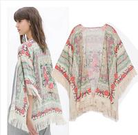 kimono jacket women outerwear bolero manteau veste femme 2014 ladies coat flower jaleco casual cardigans woman clothes
