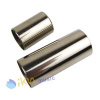 1 Set of Guitar Slide Long and Short Slide Chrome Stainless Steel Finger Knuck