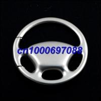 100pcs Free Shipping Mix Car Key Chain Wheel Steering Keychain 3D  Men's Car Keychains Keyrings Key Ring Chain Rings Keychain