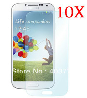 10pcs CLEAR Screen Protector With Retail Package Samsung for Galaxy S4 I9500 I9502 I959 I9508
