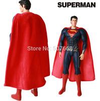 "10pcs/lot Movie Superhero Superman The Man of Steel PVC Action Figure Collectible Model Toy 15"" 38cm"