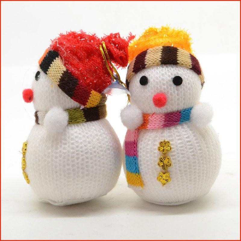 15Pcs New Year Christmas Tree Decoration Toys Snowmen Doll Ornament (6cm X 10.5cm)(China (Mainland))