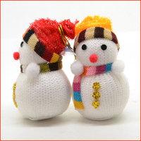 15Pcs New Year Christmas Tree Decoration Toys Snowmen Doll Ornament (6cm X 10.5cm)