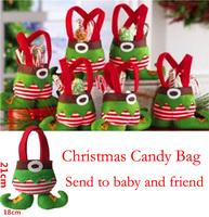 10pcs/lot Christmas Candy Bag Elf Candy Bags Christmas Gift Bag Christmas Decoration Supplies Candy Bags