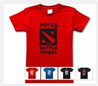 Mens T Shirts Fashion 2014 DOTA 2 Games T-shirt Men 100% Cotton Personalized Custom tshirt O-Neck Short Sleeve men tee