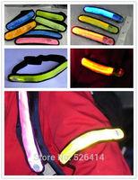 Free shipping 50PCS/LOT LED Armbands Reflective Bands Flashing Safety Velcro Arm Bands Bicycle ArmBands