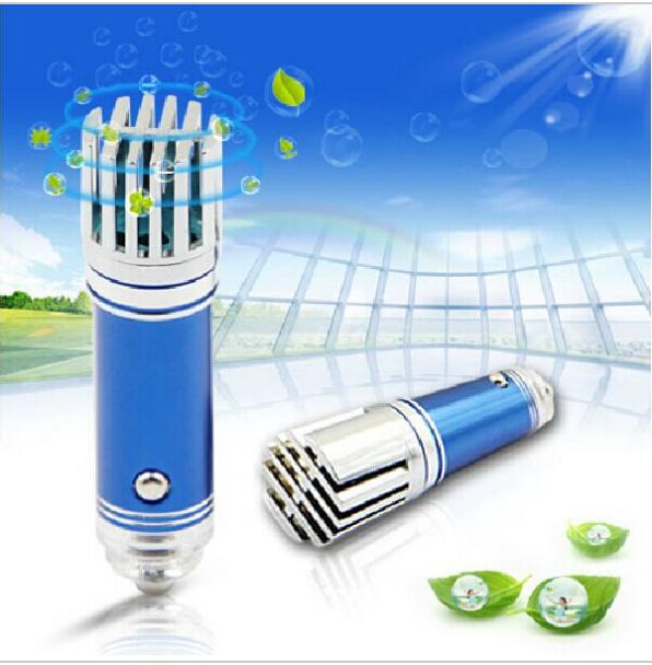 Real Mini 2014 Car Impulse Anion Oxygen Bar Ozone Ionizer Air Purifier Cleaner Fresher Remove smoke bad smell(China (Mainland))